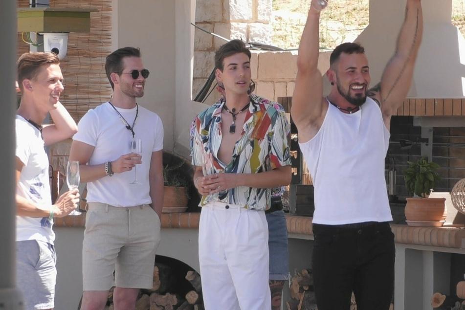 Patrick, Bernhard, Arne und Adrian (v.l.n.r.) sind gespannt auf die Konkurrenz.