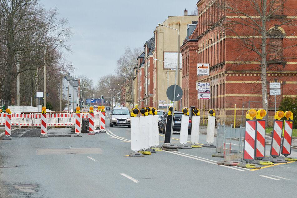 Autofahrer haben es in dem Zwickauer Stadtteil gerade schwer.