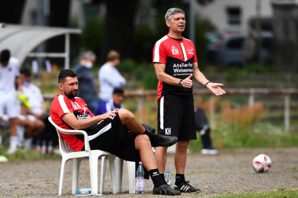Geballte Fußballfachkompetenz: Coach Karsten Heine (r.) und sein Co-Trainer Torsten Mattuschka haben bei der VSG Altglienicke die Zügel in der Hand.