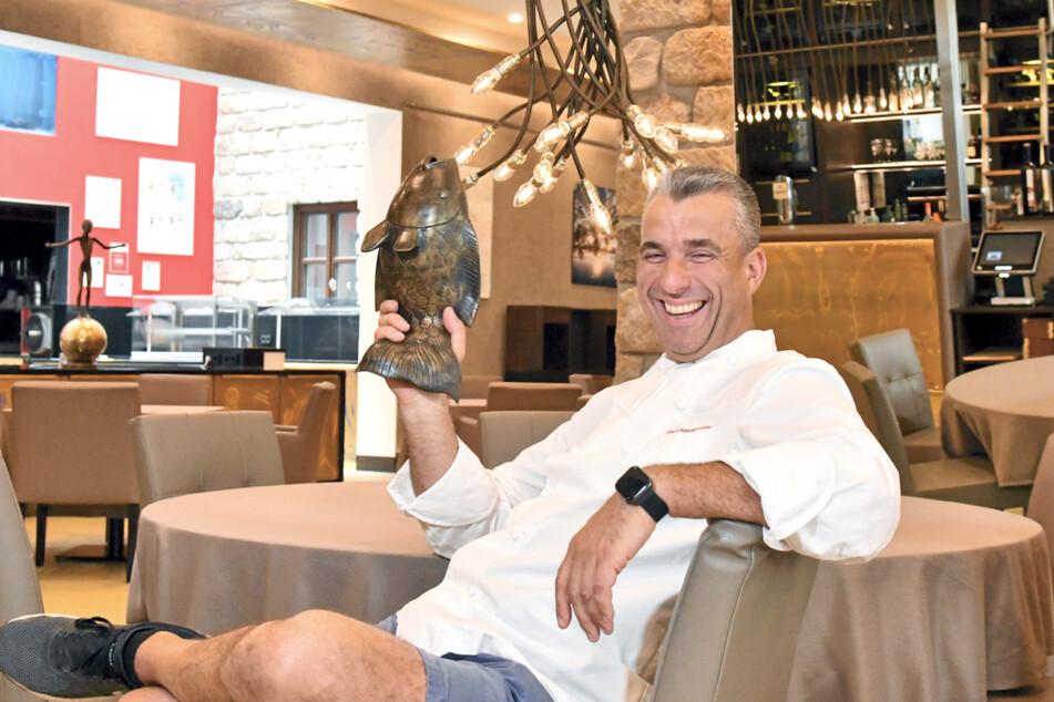 """Heute bewirtet Gerd Kastenmeier (51) im Hotel Kempinski Feinschmecker in seinem Restaurant """"Kastenmeiers""""."""