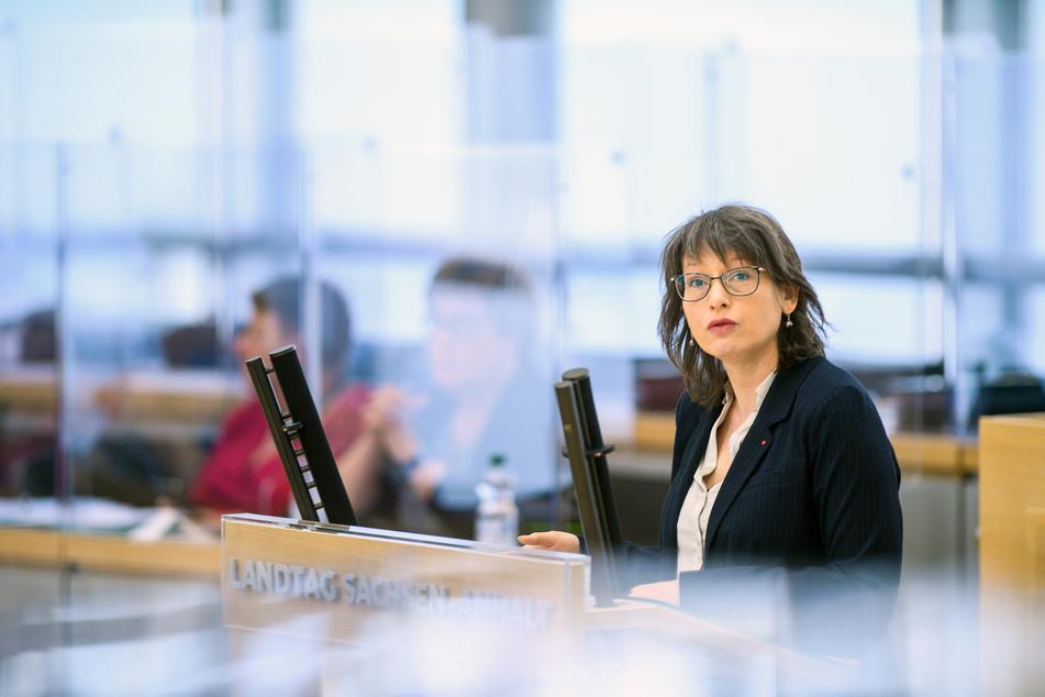 Katja Pähle (47), Fraktionsvorsitzende der SPD Sachsen-Anhalt, am Mittwoch.