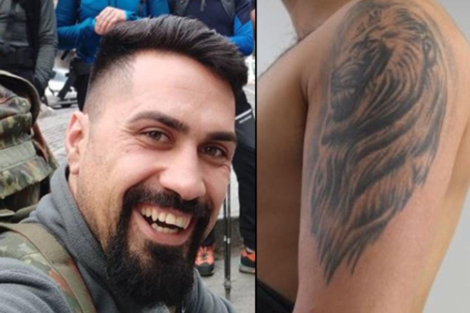 Der Gesuchte hat ein auffälliges Löwenkopf-Tattoo am linken Oberarm.