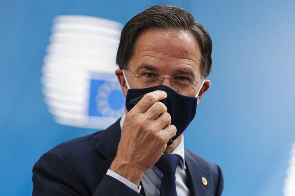 Belgien, Brüssel: Mark Rutte, Premierminister der Niederlande, trifft im Juli 2020 zum EU-Gipfel ein.