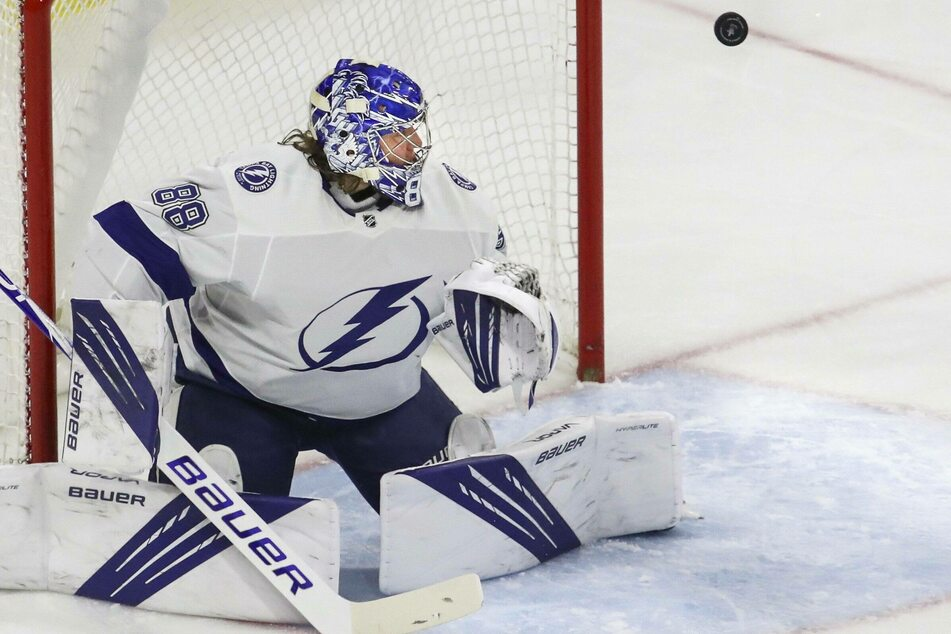 Lightning goaltender Andrei Vasilevskiy stopped 29 shots to shutout the Canes in game five on Tuesday night.