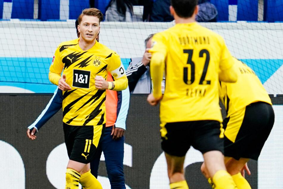 Marco Reus (l.) schoss Borussia Dortmund bei der TSG 1899 Hoffenheim zum 1:0-Auswärtssieg.