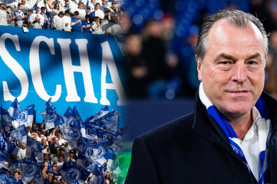 Den Schalke-Fans reicht es deshalb. Sie protestieren gegen die Vereinsführung um Clemens Tönnies (r.). (Symbolbild)