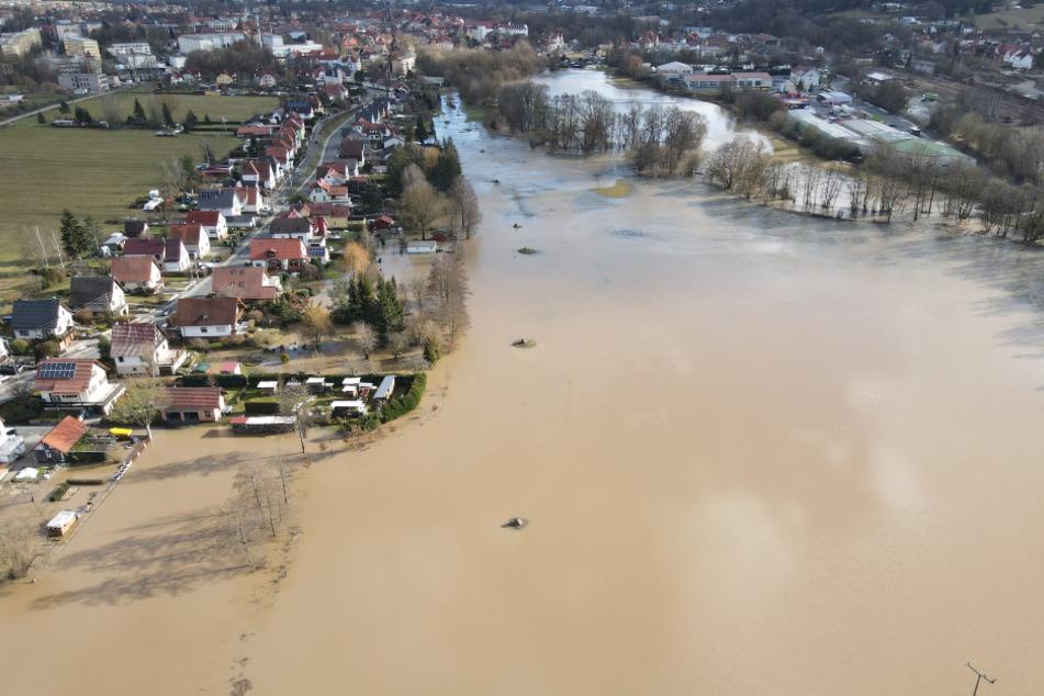 Bild aus Hildburghausen: Hochwasser, Starkregen und Dürre nehmen zu. Darauf will man sich in Thüringen zukünftig besser einstellen. (Archivbild)
