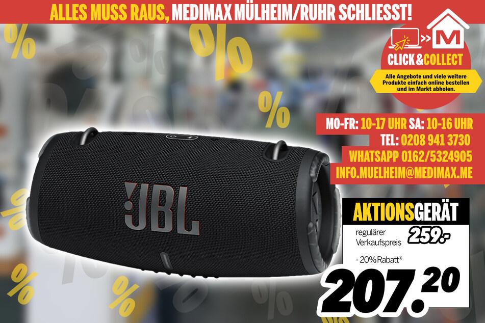 Bluetooth-Lautsprecher von JBL für 207,20 Euro