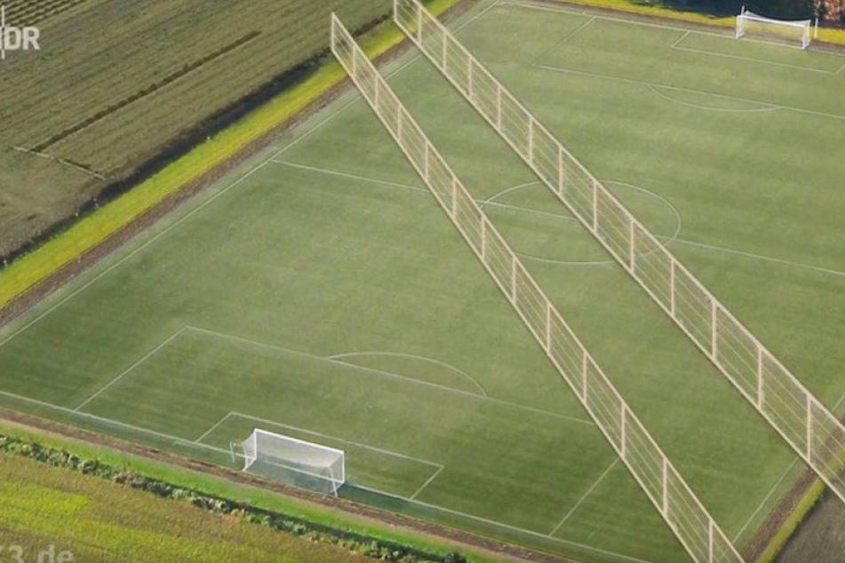 Irre! Mitten auf diesem Fußballfeld ist jetzt ein Acker