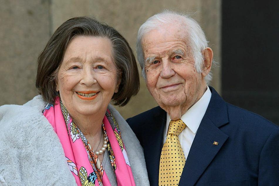 Kurt (91) und Ingrid Biedenkopf (90), auch am Mittwoch unzertrennlich.