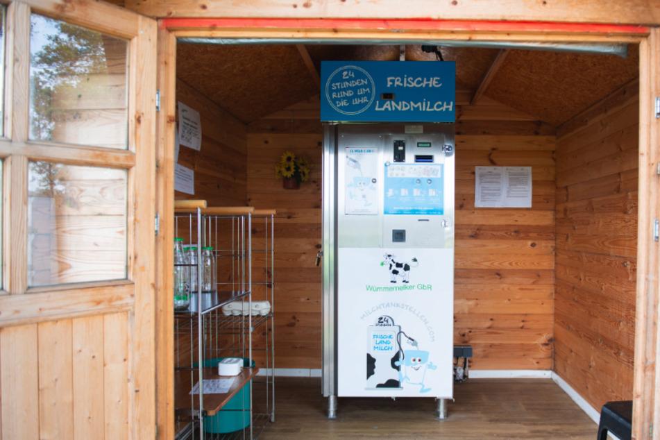 Milchautomat aufgebrochen: Geldkassette verschwunden
