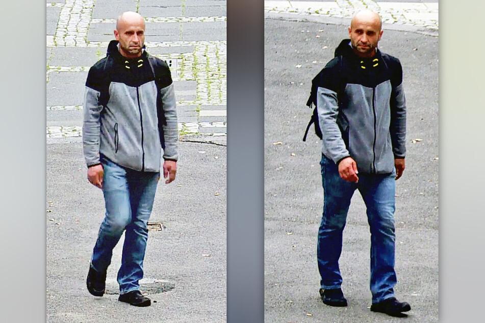 Mit den Fotos sucht die Polizei nach einem Mann, der die Sparkasse am Neumarkt in Köln überfallen hat. (Fotomontage)