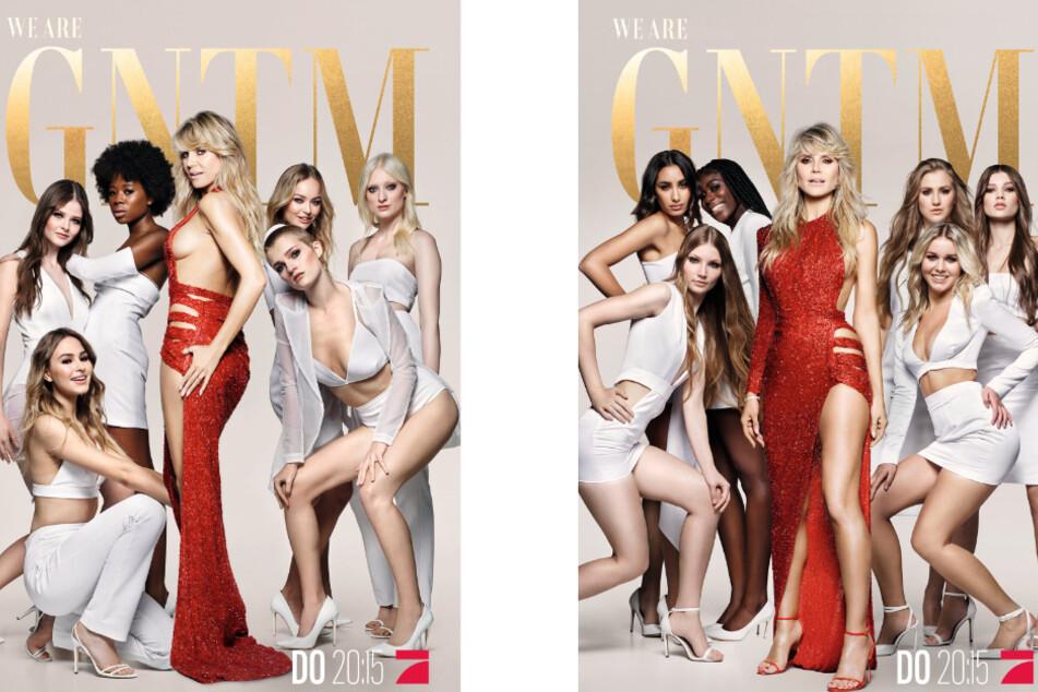 Heidi Klum und ihre Mädchen heizen den GNTM-Fans ein.
