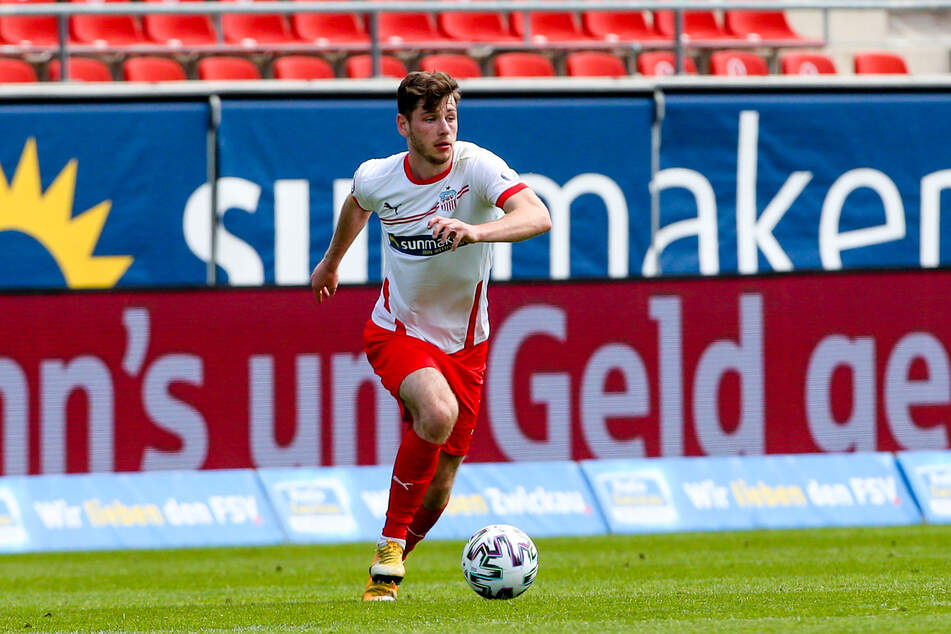 Einer der sieben, die den FSV Zwickau verlassen: Leon Jensen (24) wechselt zum Zweitligisten Karlsruher SC.