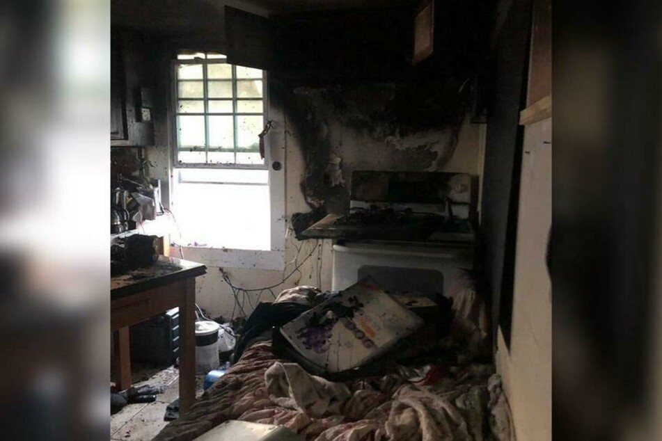 The fire began in the shelter's kitchen.