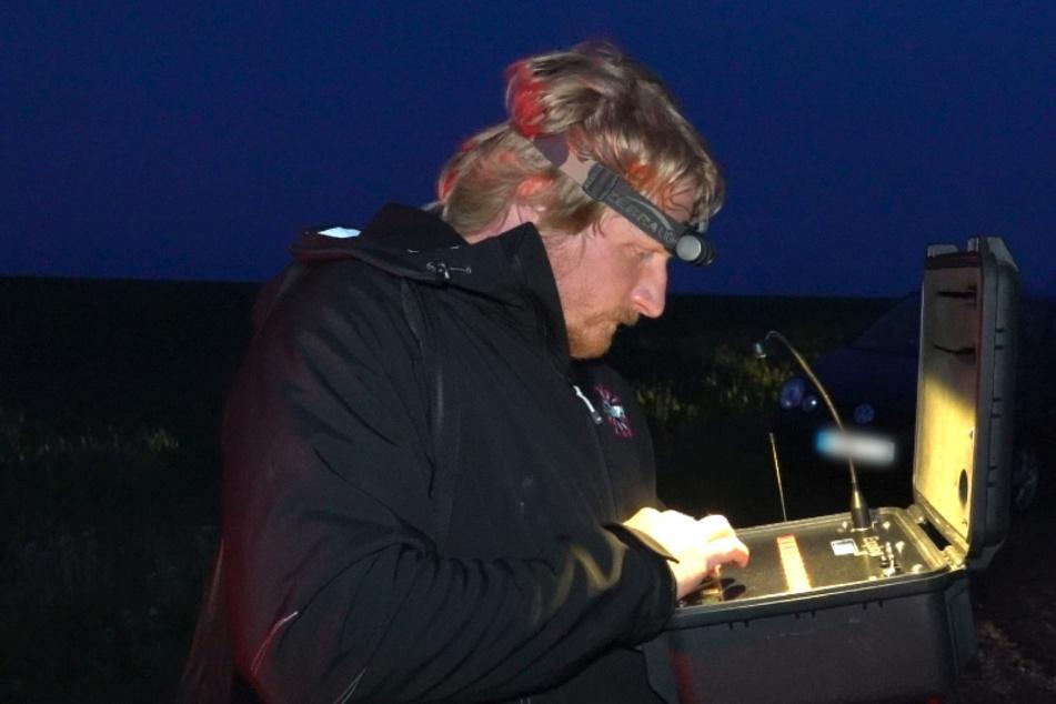 """Pyrotechniker Stephan Boden (33) veranstaltete das erste """"Erzleuchten"""" im Erzgebirge."""