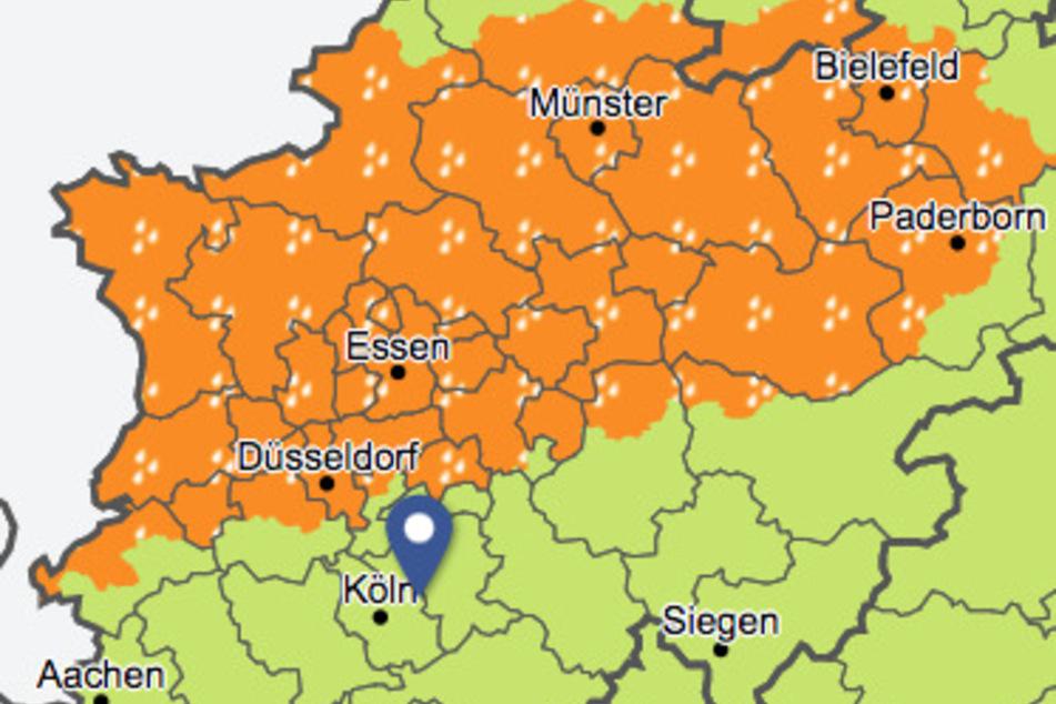 Der Deutsche Wetterdienst warnte am Mittwoch vor einer erhöhten Sturmgefahr in NRW.