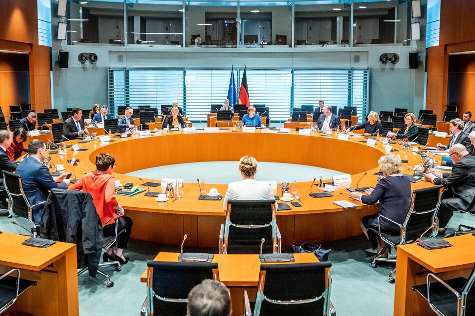 Bundeskanzlerin Angela Merkel (CDU) in der wöchentlichen Sitzung des Bundeskabinetts im Kanzleramt.