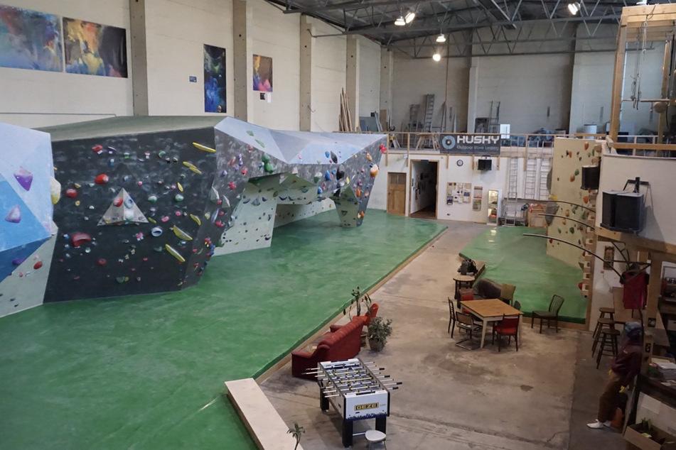 Leere Halle: Die Kosmos Boulderhalle in Plagwitz ist aktuell geschlossen.