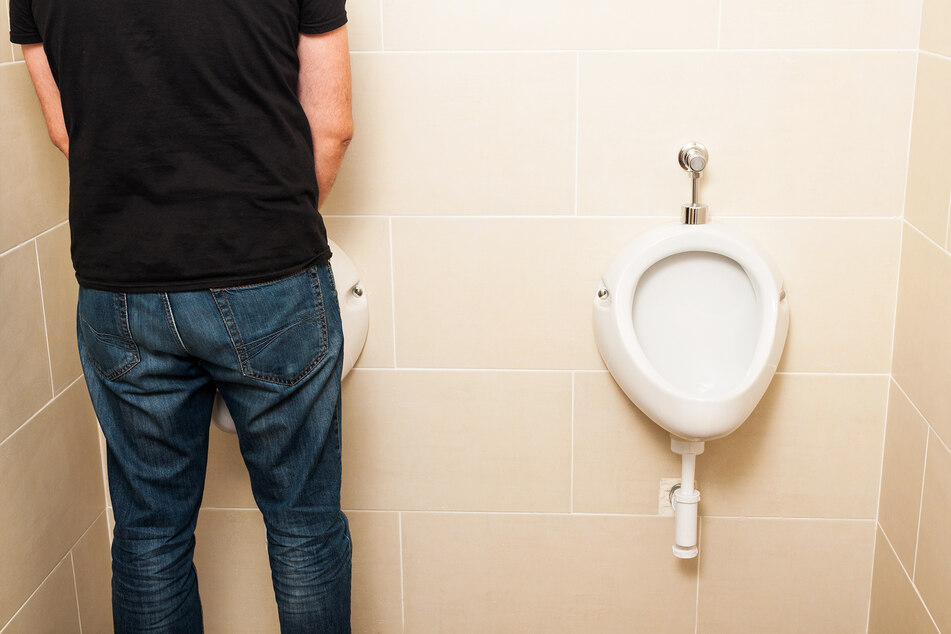 A man urinating (stock image).