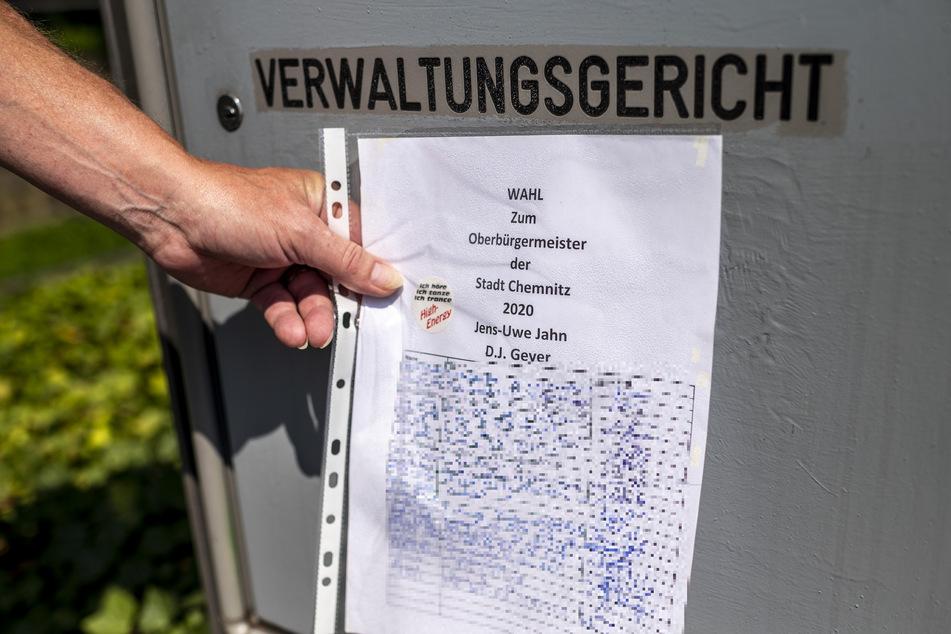 Diese Unterschriften zur OB-Wahl hatte DJ Geyer noch eigenhändig gesammelt - umsonst.