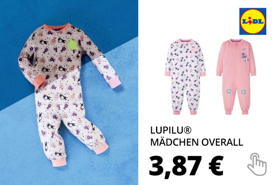 LUPILU® Kleinkinder Overall Mädchen, aus reine Baumwolle