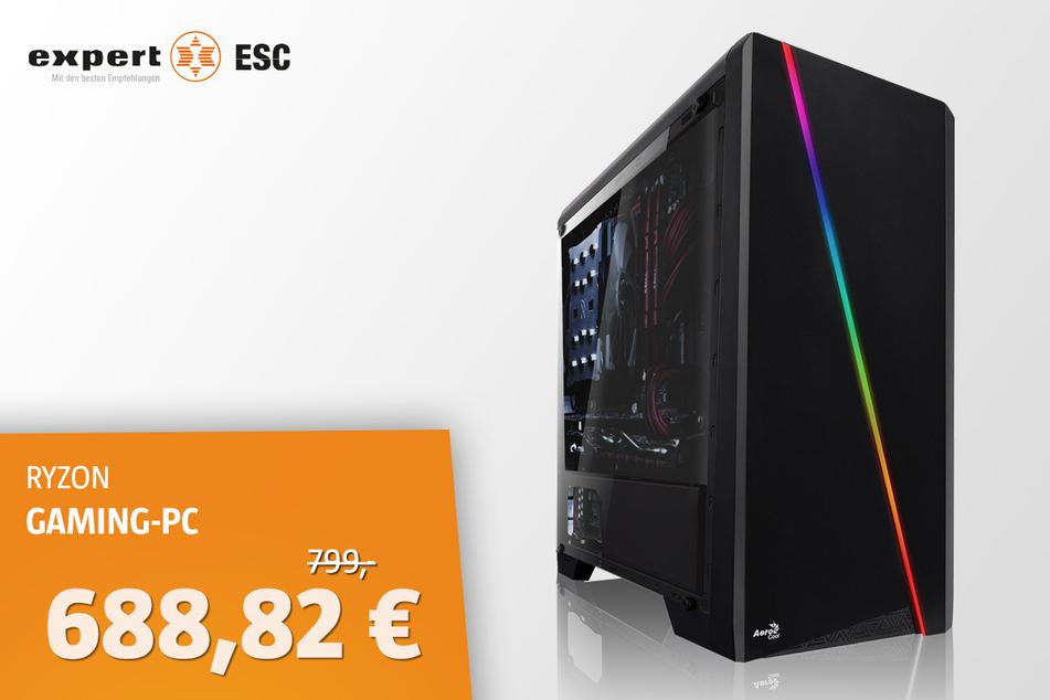 Ryzen 5 3600 Gaming-PC für 688,82 statt 799 Euro.