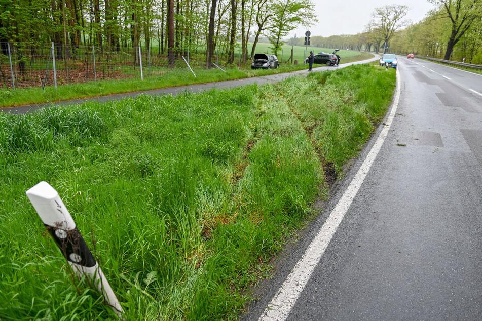In dieser Linkskurve rutschte der Toyota zu weit nach links, was zum Unfall führte.