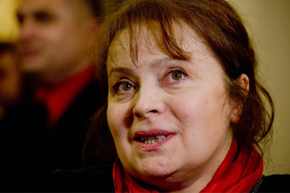 Libuse Safrankova im Alter von 60 Jahren während einer Veranstaltung in Prag am 25. September 2013.