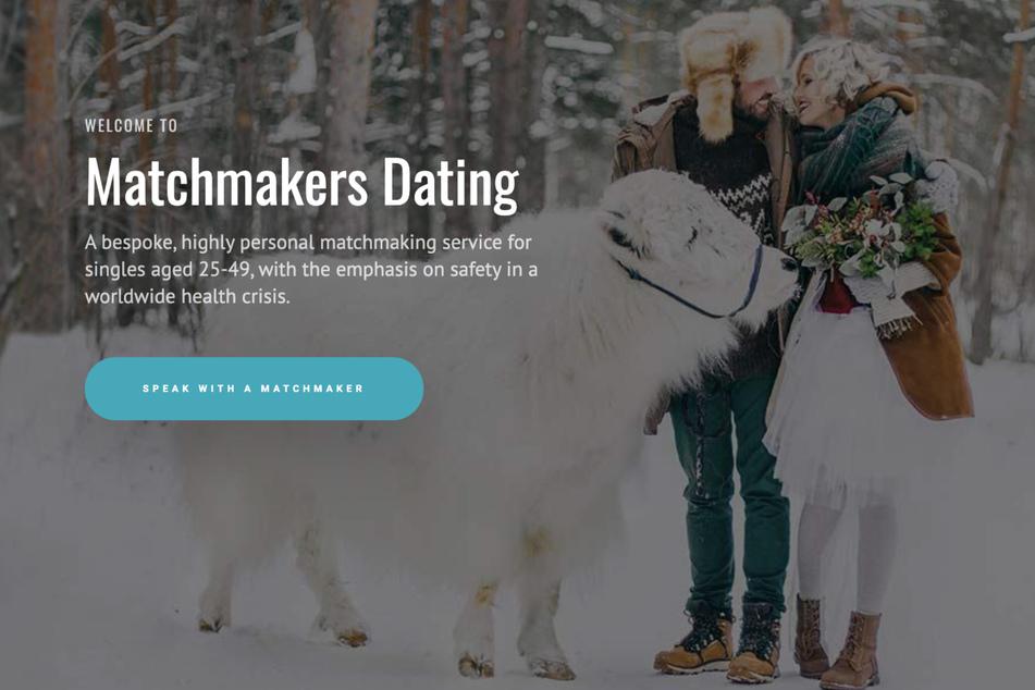 """Auf der Webseite von """"Matchmakers Dating"""" heißt es nur, der Service wäre für Singles im Alter zwischen 25 und 49."""