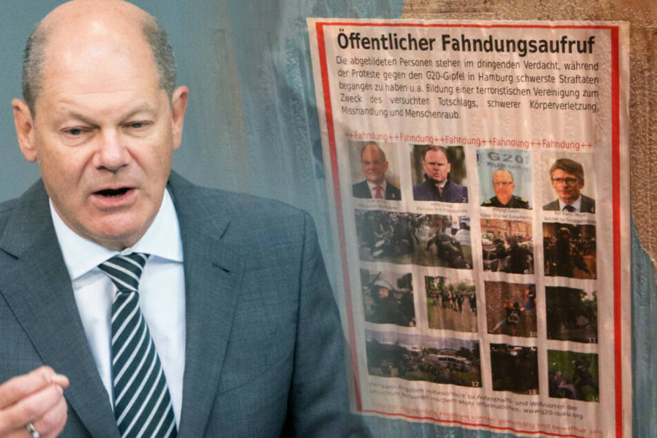 Linksextremisten schreiben Olaf Scholz zur Fahndung aus
