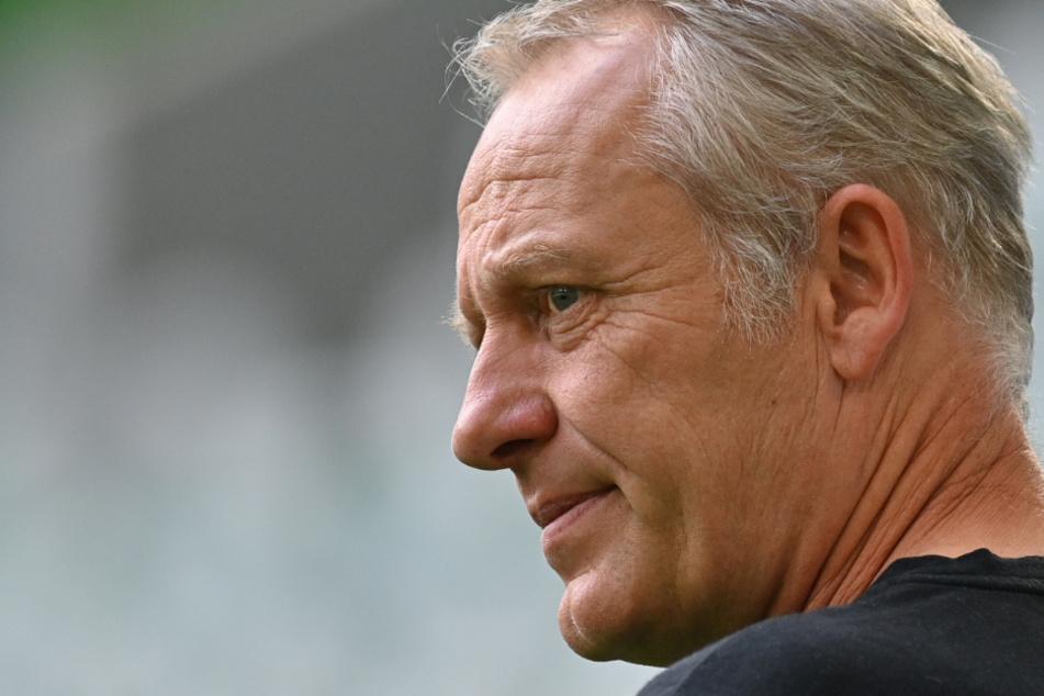 Christian Streich (55) , Trainer des SC Freiburg, hat Respekt vor Pokalgegner Waldhof Mannheim.