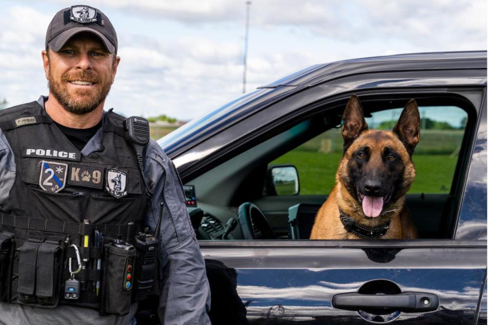 Polizeihund Dutch (rechts) war der treue Begleiter von Constable Colin Manson.