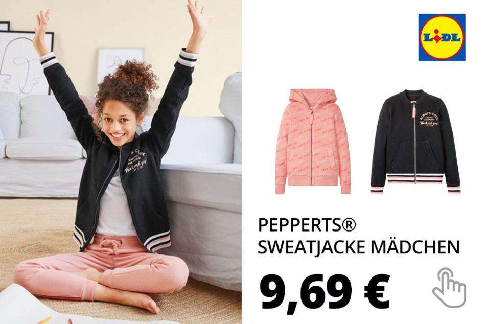 PEPPERTS® Sweatjacke Mädchen, mit Baumwolle