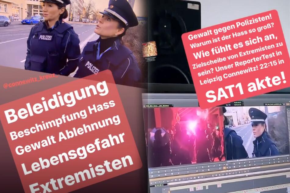 """Die """"akte""""-Reporterin Nadja Pia Wagner postete Bilder zum Dreh bei Instagram."""